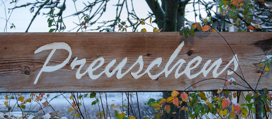 Brennerei Erlwein in Hundboden bei Egloffstein in der Fränkischen Schweiz.