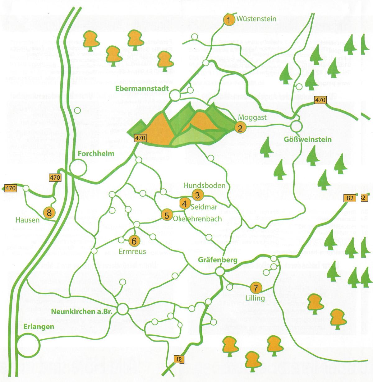 Fränkische Schweiz Karte.Hofladentour2019 2 Karte Brennerei Fränkische Schweiz